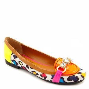 Beverly Feldman Diamonds 4 Ever Leopard Loafer 8.5